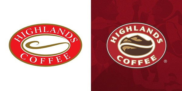 Thay đổi nhận diện logo của thương hiệu cafe Highlands