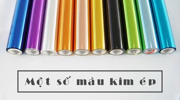 Một số màu ép kim phổ thông.