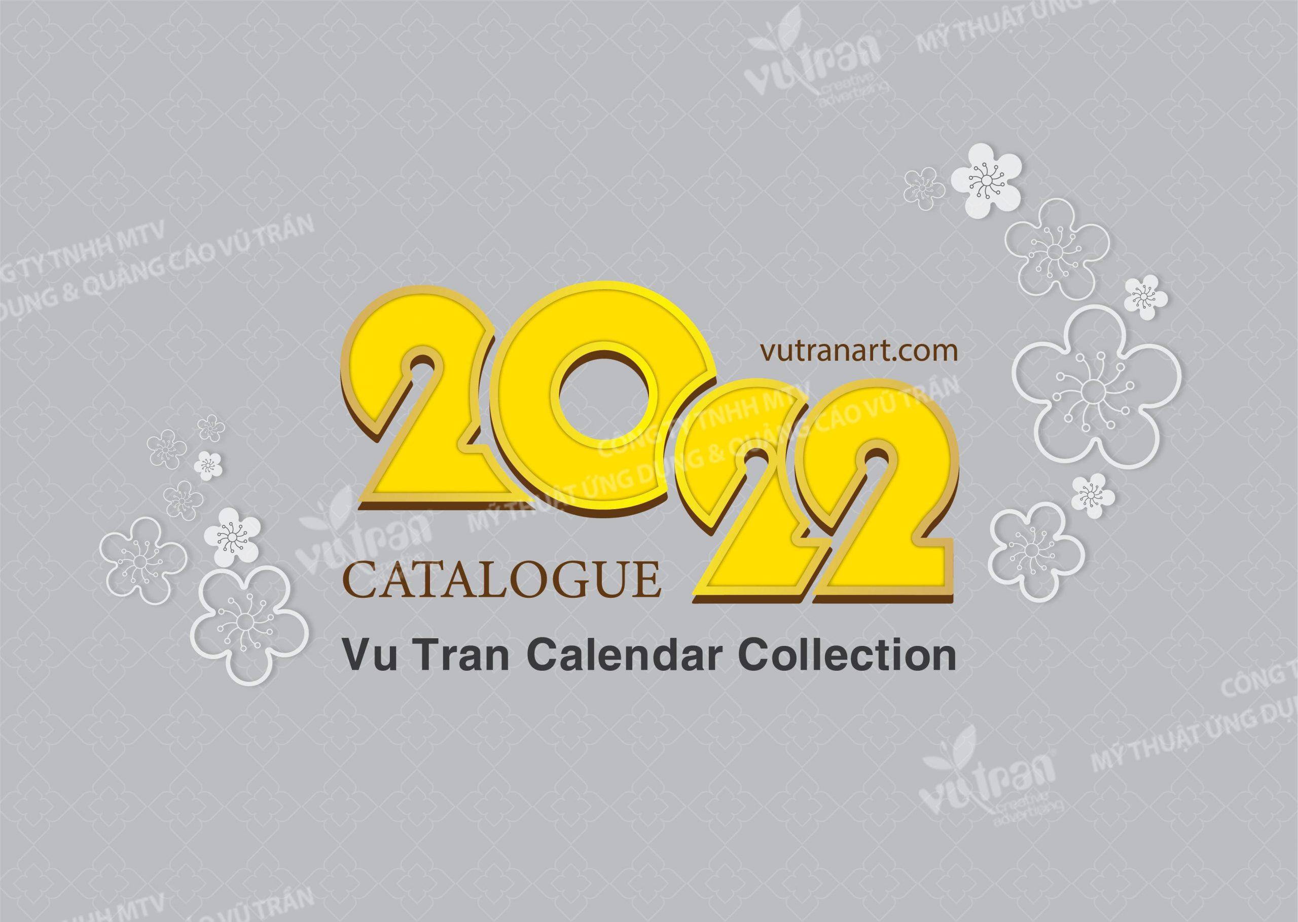 cataoogue calendar collection 2022 by Vutranart