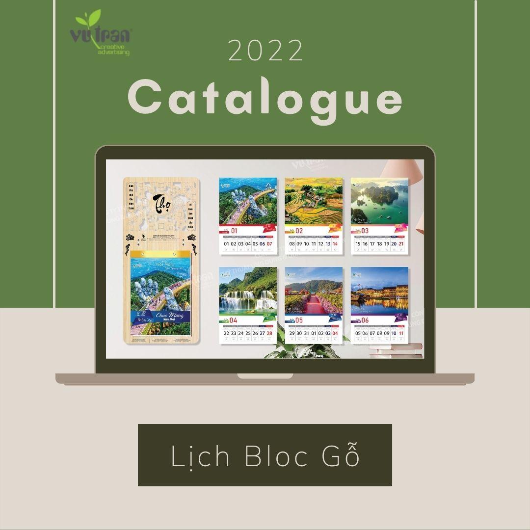 """Hình 4: Lịch bloc gỗ chủ để """"Phong cảnh Việt Nam"""" thiết kể bởi Vutranart."""
